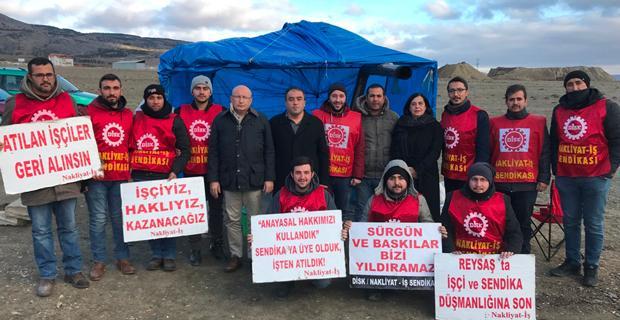 İşçilerin mücadelesine destek verdiler