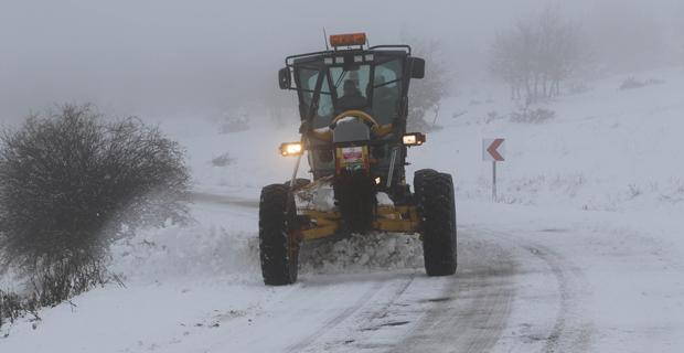 Karla yoğun mücadele