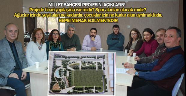 Platformdan Millet Bahçesi açıklaması