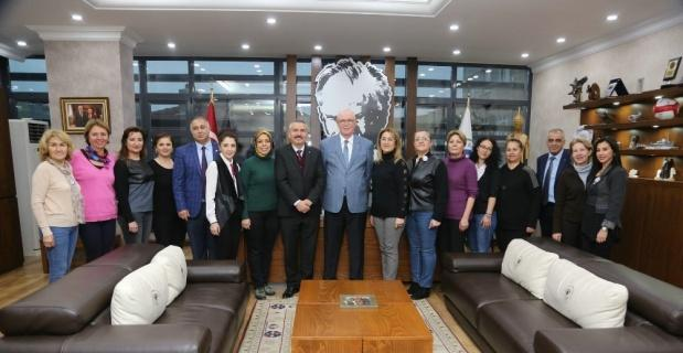 Polatlı Kent Konseyi üyeleri Kazım Kurt'u ziyaret etti