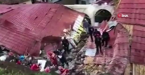 Otelin istinat duvarı yıkıldı: 15 ölü, 34 yaralı