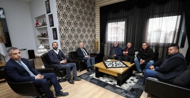 Alevi Kültür Dernekleri Genel Başkanı Doğan Demir Başkan Çoban'ı ziyaret etti