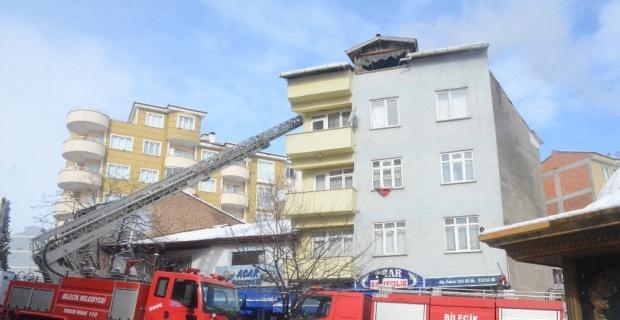 Bilecik'te çatı yangını korkuttu