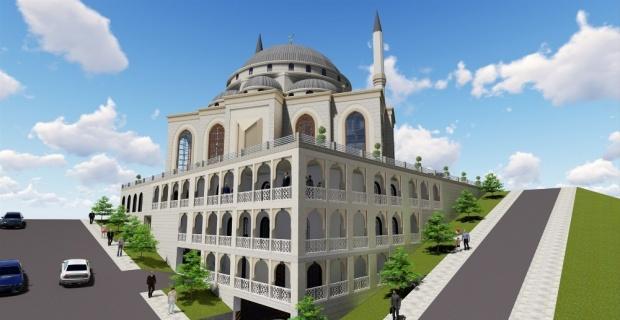 Bittiğinde Türkiye'nin ilk asansörlü minaresine sahip camisi olacak