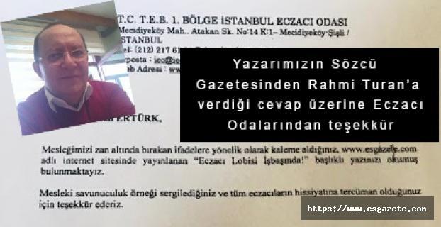 Ertürk'ün yazısı büyük yankı uyandırdı