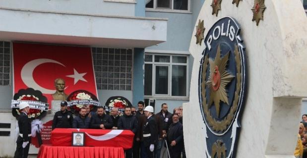 Hayatını kaybeden polis memuru, memleketine uğurlandı