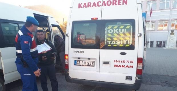 Jandarma'dan öğrenci servisi denetimi