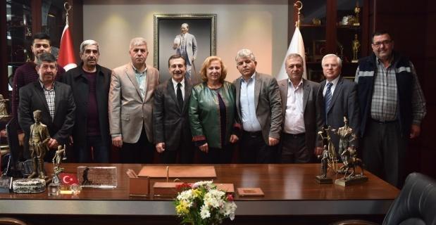 Karatepelilerden Başkan Ataç'a ziyaret
