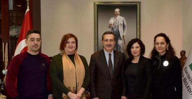 Sağlık çalışanlarından Ataç'a ziyaret