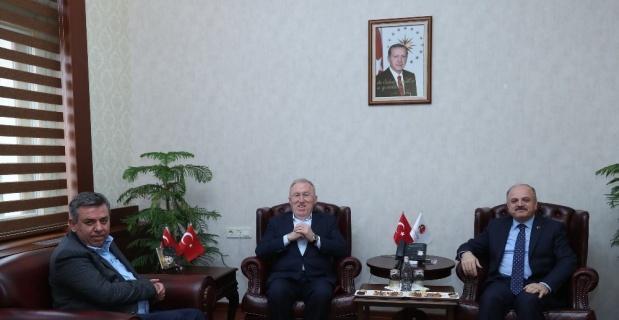 Vali Çakacak, Tokyo Büyükelçisi Mercan'ı ağırladı