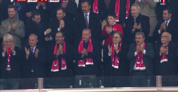 Erdoğan Milli Maçı izledi