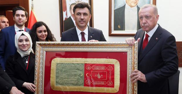 Erdoğan'a özel hediye