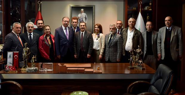 CHP İl yönetimi Ataç'ı ziyaret etti