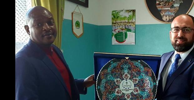 Engiz, Burundi Cumhuriyeti Cumhurbaşkanı Nkurunzıza ile görüştü