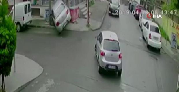 Faciadan dönüldü, sürücü şok geçirdi