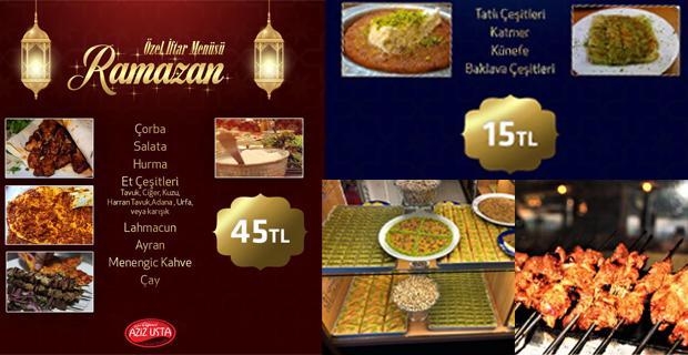 Ciğerci Aziz'den zengin Ramazan menüsü