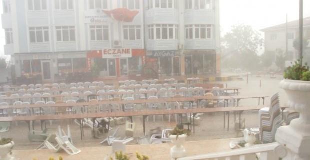 Fırtınalı havada iftar