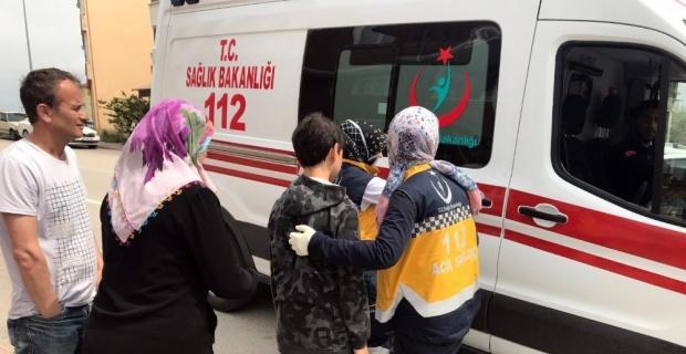 Otomobil ile bisiklet çarpışmasında küçük çocuk yaralandı