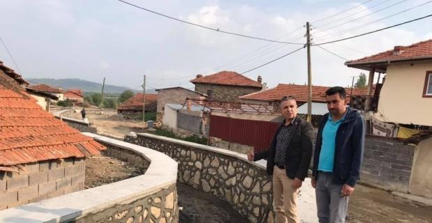 Sürekli sel baskını olan köyde dere ıslahı çalışması