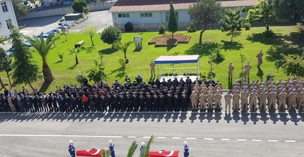 Suya kapılarak şehit olan askerler için tören düzenlendi
