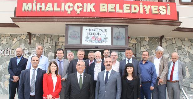 DSP Genel Başkanı Aksakal Mihalıççık'taydı