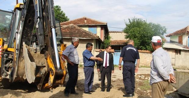 Selden zarar gören köyde çalışmalara başlandı