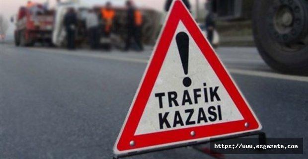 Çiftelerde trafik kazası, 1 ölü 3 yaralı