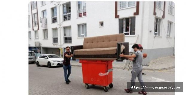 Çöp konteynerinden nakliye!