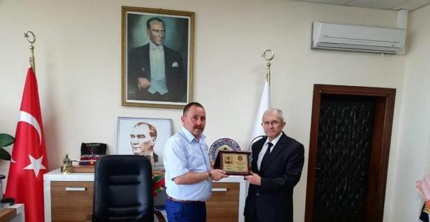 Yörük Türkmen Derneği Başkanı Ezel'den Başkan Sever'e ziyaret