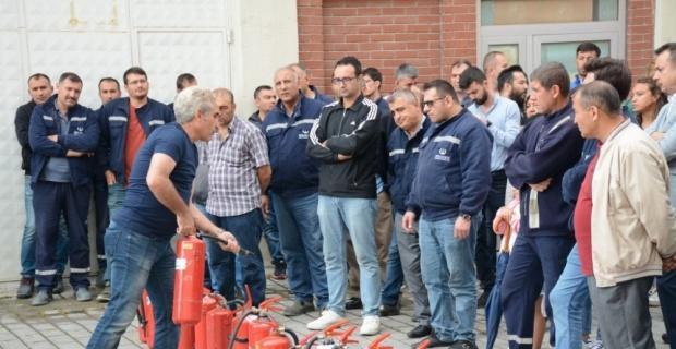 Anadolu Üniversitesinde yangın tatbikatı