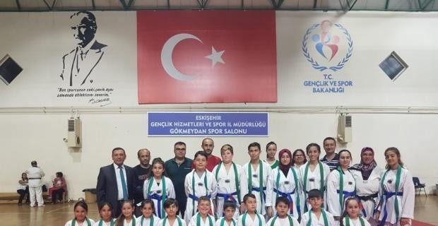 Taekwondo Kuşak Terfi Sınavı heyecanı yaşandı