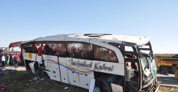 Otobüste olan Samet Çağrı kaza anını anlattı