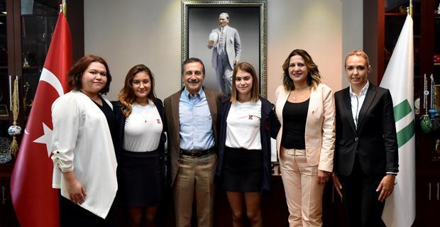Sevinçlerini Başkan Ataç'la Paylaştılar