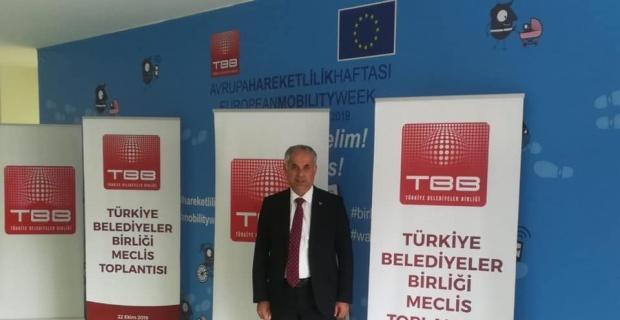 Başkan Yaman, Türkiye Belediyeler Birliği Olağan Toplantısına katıldı