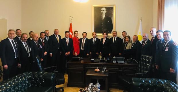 CHP ve İYİ Parti teşkilatları Akşener'i ziyaret etti