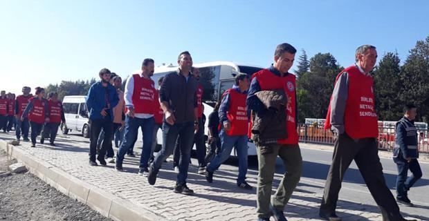 İşçiler Ankara'ya yürüyor