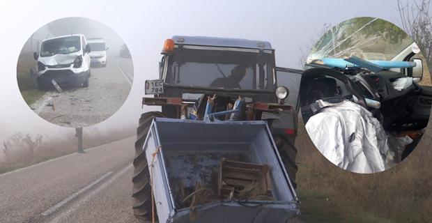 Traktöre arkadan çarptı: 1 ölü