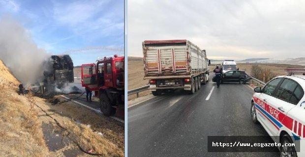 Ölüm yolunda 24 saat içinde 3 kaza