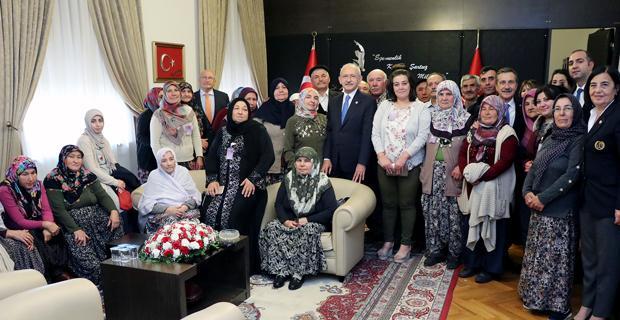 Mihalgazili kadınlar Kılıçdaroğlu ile buluştu