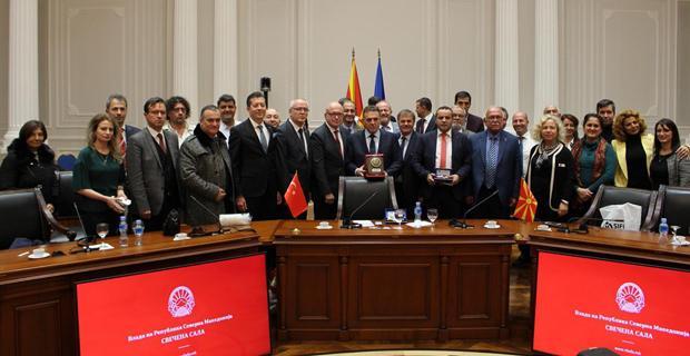 Rumeli iş insanları Makedonya temaslarını tamamladı