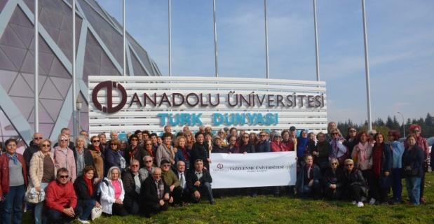 Tazelenme Üniversitesi öğrencileri Türk Dünyası Bilim Kültür ve Sanat Merkezi'ni gezdi