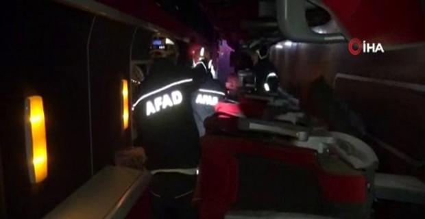 Yolcu otobüsü şarampole yuvarlandı: İlk belirlemelere göre 37 yaralı, 1 ölü
