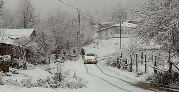 Bilecik'te beklenen kar yağdı