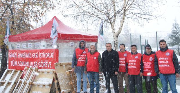 Kar altında hak direnişi