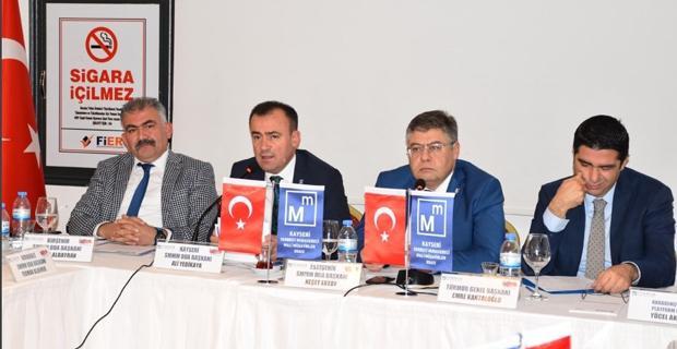 Platform Toplantısına Ertoy, Başkanlık Yaptı