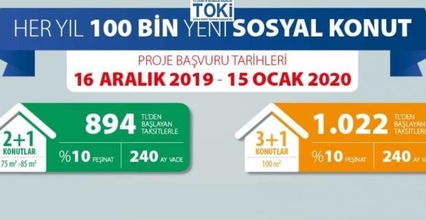 TOKİ, Kütahya'da 950 konut inşa edecek