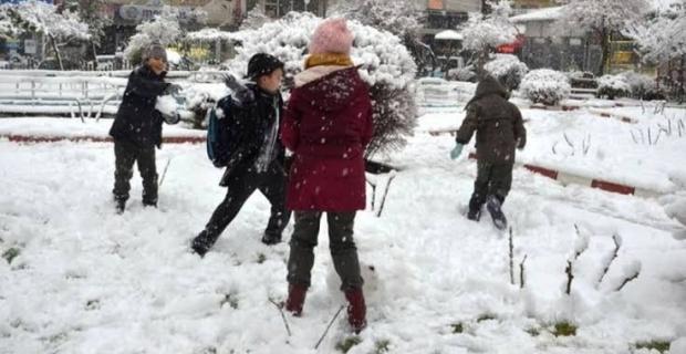 Kütahya'da okullara kar tatili