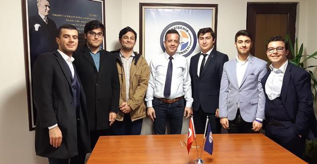 Öğrenci senatosu üyelerinden konseye ziyaret