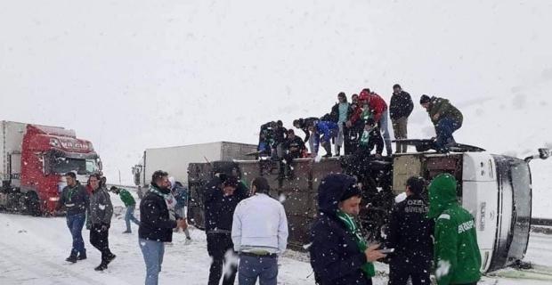 Bursaspor taraftarı kaza yaptı