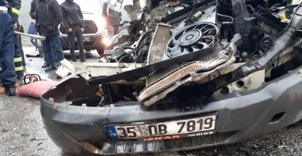 Karayolu savaş alanına döndü;7 yaralı
